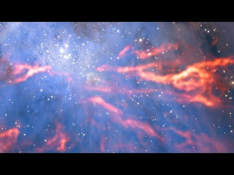 Panning across ALMA's view of the Orion Nebula