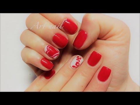 Маникюр ко Дню Святого Валентина | Дизайн ногтей на День Влюбленных | Manicure on Valentines Day