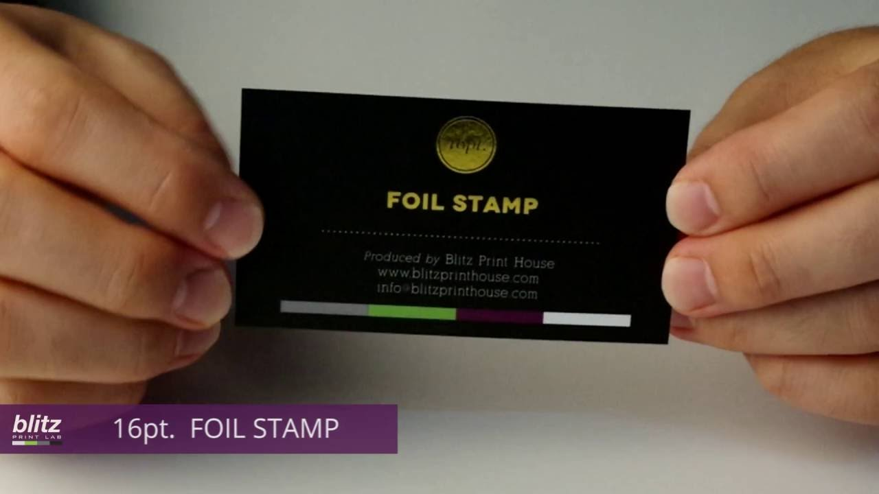 16PT FOIL STAMP Business Card by Blitz Print House - YouTube