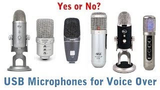USB Microphones for Voice Over Recording