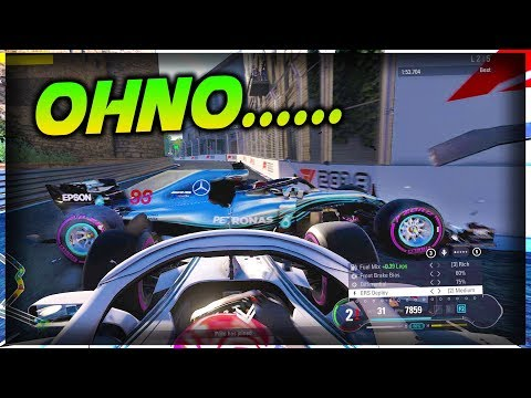 T-BONE CRASH AT BAKU CASTLE SECTION! - Veloce ESports vs The World #1   F1 2018 Game Online
