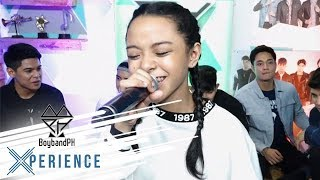 "#BoybandPHXVIP Sheena Belarmino sings ""Rolling in the Deep"""