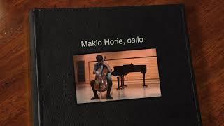 J.S.Bach's Cello Suite no,2, Minuet(Makio Horie, cello)