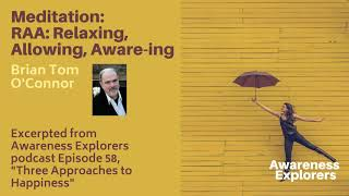 Meditation: RAA: Relaxing, Allowing, Aware-ing - from Awareness Explorers Episode 58