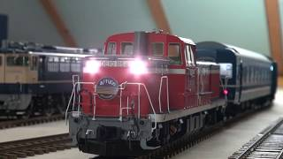 OJゲージ鉄道模型運転会キハ55他