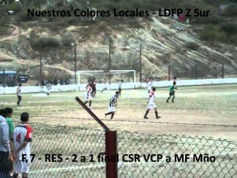 LDFP RES Z Sur Fecha 7 Gol de 2 a 1 final de Sp Rivadavia VCP a MF Mño