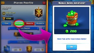 WTF! GIVING MY OPPONENT FREE GEMS in Clash Royale!