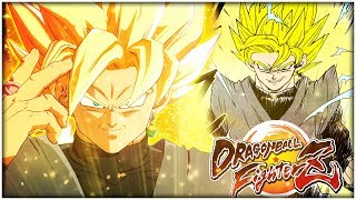 SUPER SAIYAN GOKU BLACK TRANSFORMATION GAMEPLAY! Dragon Ball FighterZ Mod