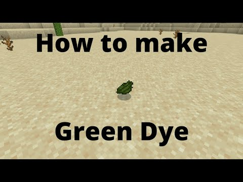 how-to-make-green-dye:-minecraft