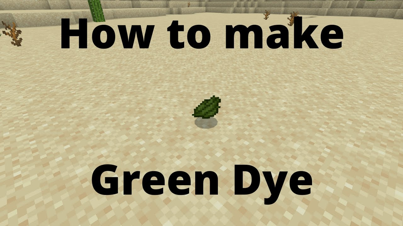 How to make green dye: Minecraft - YouTube