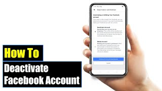 How to Deactivate Facebook Account 2019 | Mobile App