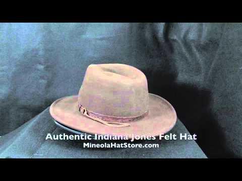 Indiana Jones Felt Hat with Leather Headband - YouTube 8a41c2df8f0