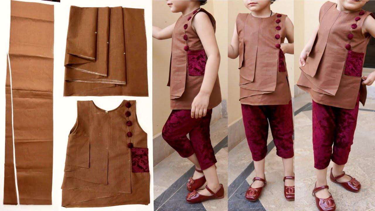 stylish and designer kurti design very easy cutting and stitching.