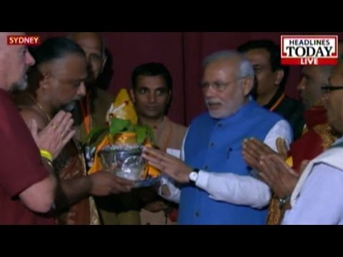 Sydney: Video of achievements  by Modi's Govt showcased at reception
