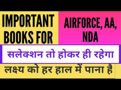 Best books for airforce, nda, aa exams.