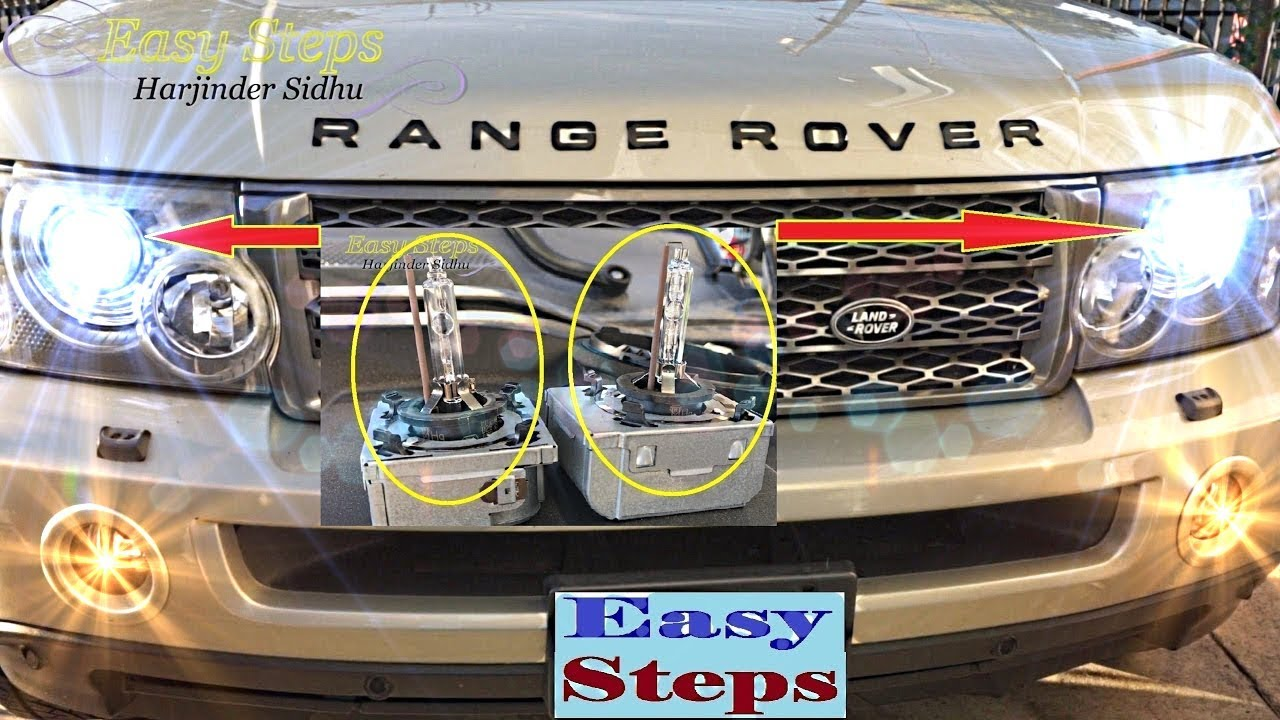 How to Change Low Beam Headlights Bulb HID on Range Rover ...