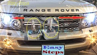 how to change low beam headlights bulb hid on range rover sport   d2s xenon hid headlamps
