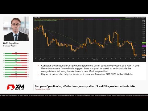 Forex News: 26/07/2018 - Dollar down, euro up after US and EU agree to start trade talks