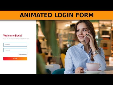 Animated Login Form Using Only HTML & CSS