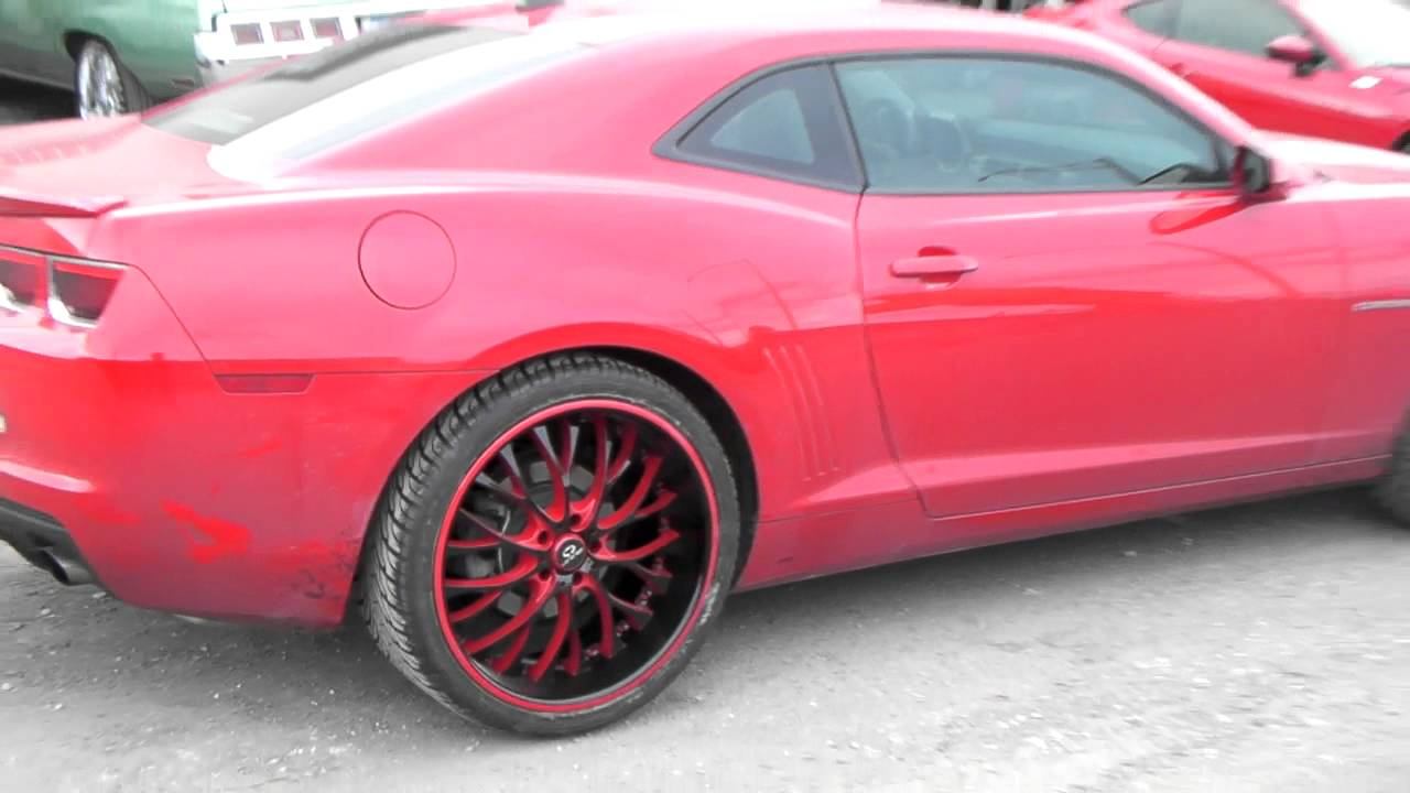 22 Inch Lorenzo WL27 Black Red 2013 Chevy