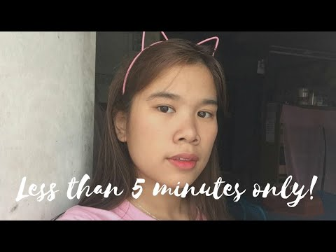LESS THAN 5 MINUTE MAKE UP LOOK | Nagmamadali kaba? | Jamella O.