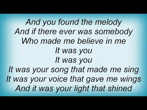 Garth Brooks - It's Your Song Lyrics