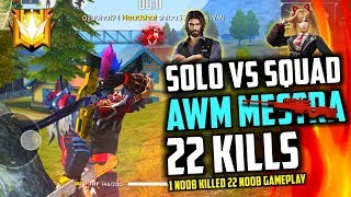 AWM Mastra 22 Kills In Solo vs Squad - Garena Free Fire Brasil- Total Gaming Live