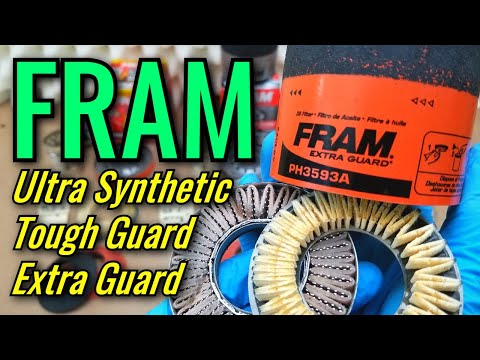 FRAM Oil Filters Cut Open 2019! Extra Guard, Tough Guard, Ultra Synthetic