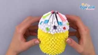 модульное оригами 3д пасхальный кулич om 6082