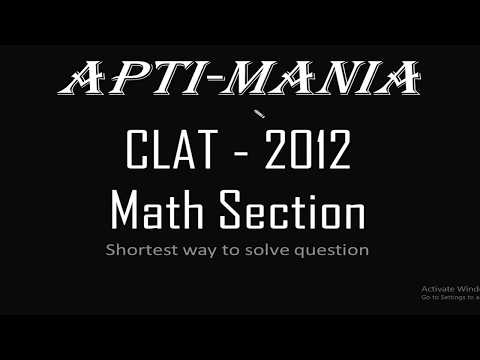 CLAT 2012 Actual paper (Maths Section)