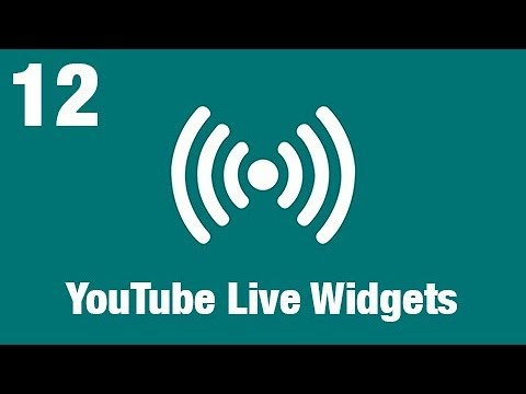XSplit Broadcaster: YouTube Live Widgets