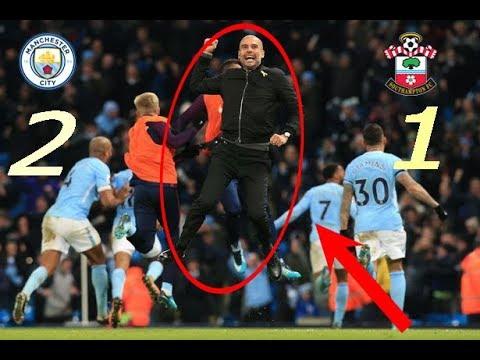 Manchester City vs Southampton 2 - 1 All Goal Highlights (30/11/2017) HD