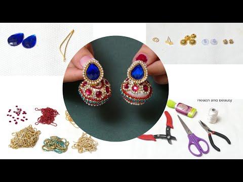 Make Designer Fancy Bridal Earrings at Home   Bridal Jhumka Earrings Tutorial