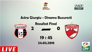 Astra Giurgiu - Dinamo Bucuresti ~ Rezumat ~ Dinamo OUT din Play-Off !
