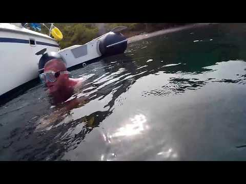 Wing keel hull cleaning POV after one year in Croatia