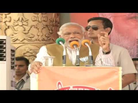 "Shri Narendra Modi addressing a ""Bharat Vijay"" rally in Bilaspur, Chhattisgarh"
