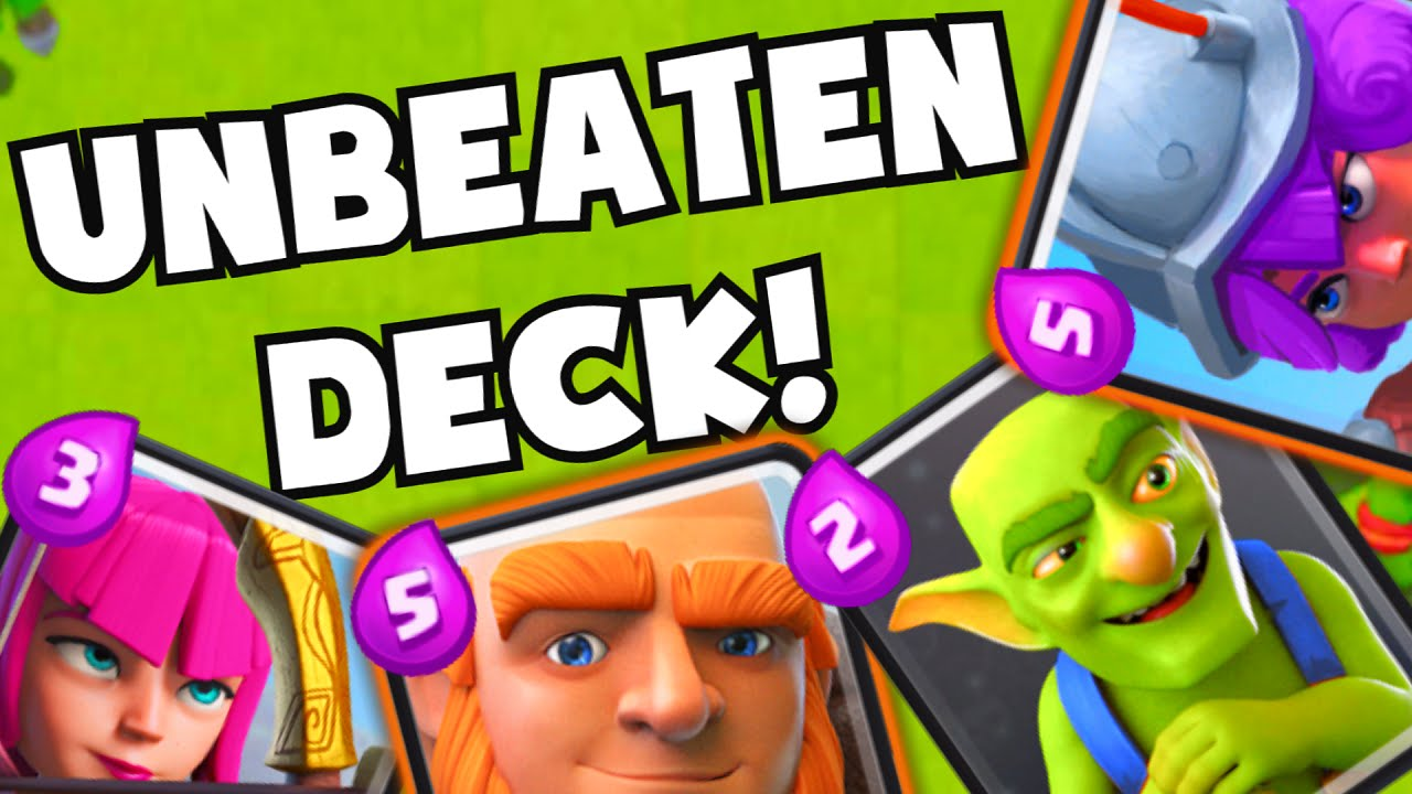 Clash royale undefeated unbeaten deck best low cost for Clash royale deck molosse