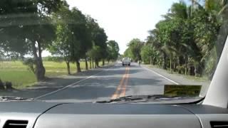 Philippine Nautical Highway, Passing through Bansud, Or. Mindoro.MOV