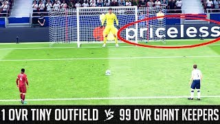 1 Rated Tiny Outfield Players VS 99 Rated Giant Goalkeepers - FIFA 19 Experiment