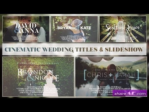🆓⬇️CINEMATIC WEDDING SLIDESHOW - AFTER EFFECTS TEMPLATES