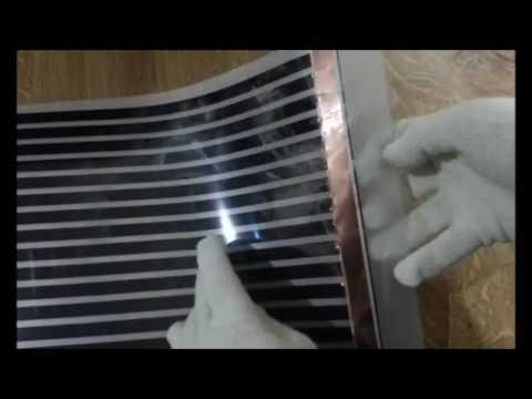 belastungstest der infrarot heizfolie anderer hersteller infrarot fu bodenheizung youtube. Black Bedroom Furniture Sets. Home Design Ideas