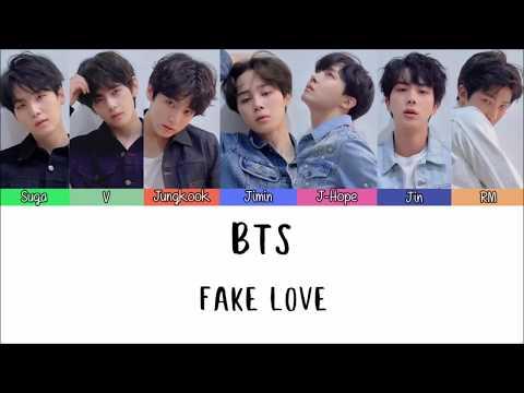 Lirik lagu bts fake love dan terjemah indonesia