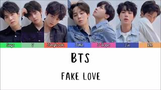 BTS - FAKE LOVE [Lyrics Han | Rom | Indo] Lirik Terjemahan Indonesia