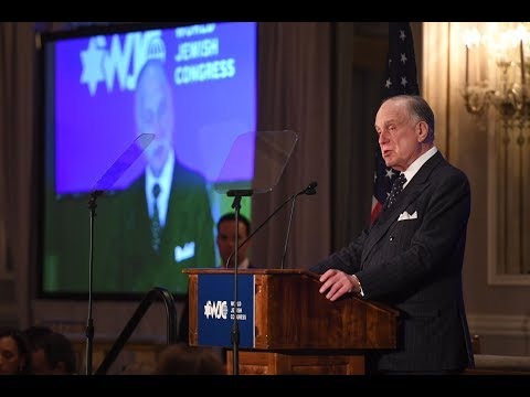 WJC President Ronald S. Lauder honors former Sec. of State Colin Powell with Theodor Herzl Award