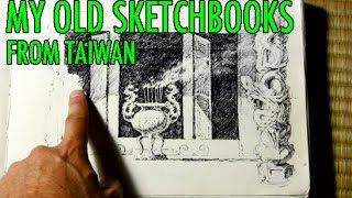 My Old Sketchbooks from Taiwan: The Way I Drew Back Then [VID 1]