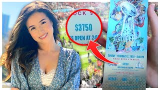 Staying in a $350,000 Suite at the SUPER BOWL! - Pokimane Miami Vlog