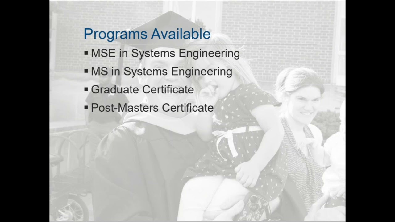 Systems Engineering Information Session Spring 2018 Youtube
