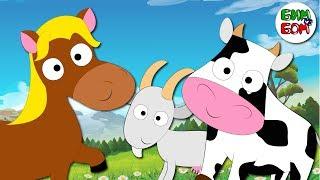 Кто пасется на лугу - Песенка загадка Песенка про животных Учим звуки животных