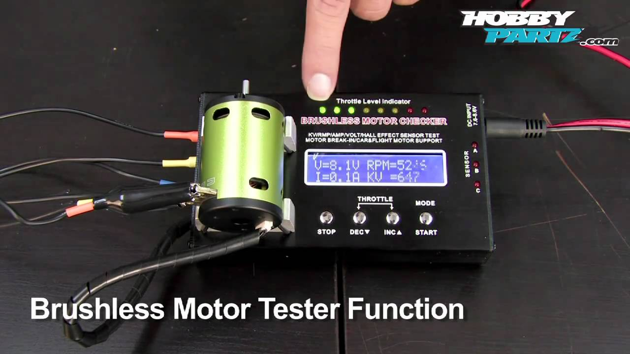 extreme bmc 01 brushless motor checker youtube