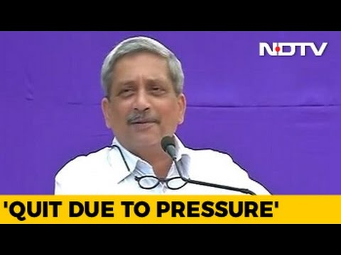 Quit As Defence Minister Due To 'Pressure' Of Key Issues: Manohar Parrikar